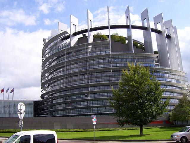 Gebäude des Europaparlaments in Straßbourg